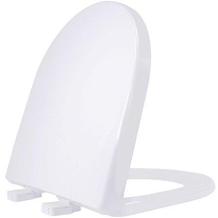 Assento Sanitario Plastico Riviera PP Soft Close Branco - RIVPPE01SC
