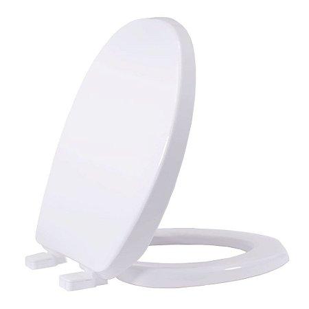 Assento sanitário Plástico Solution PP Convencional Branco - AUSPP00CV