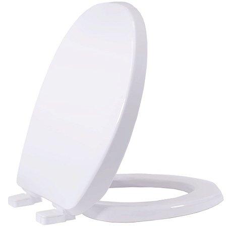 Assento Sanitário Plástico Soltuion PP Soft Close Branco - AUSPP00SC