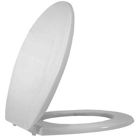 Assento Sanitario Oval Plastico Universal PP Convencional Cinza - 1110480