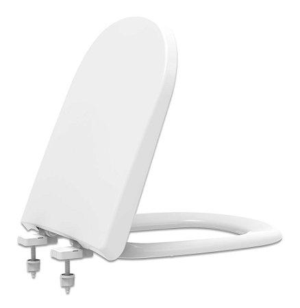 Assento Sanitário Plástico Vogue PP Convencional Branco/Gelo VPPE17C