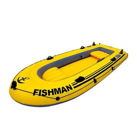 Bote Inflável Barco Fischmann 350 com Remos e inflador MOR