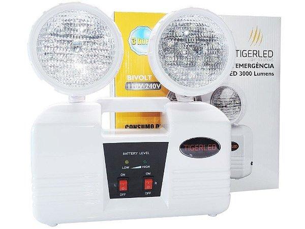 Bloco Autônomo Luminária Emergência 3000 Lumens 16W