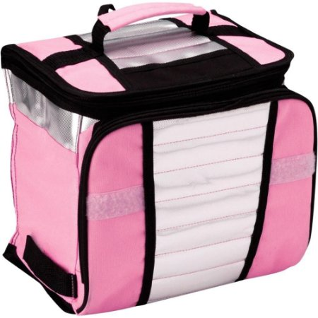 Bolsa Termica Pequena Cooler Rosa 7,5 Litros Retrátil MOR