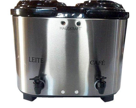 Botijão Térmico Duplo 12 Litros Inox - HAUSKRAFT