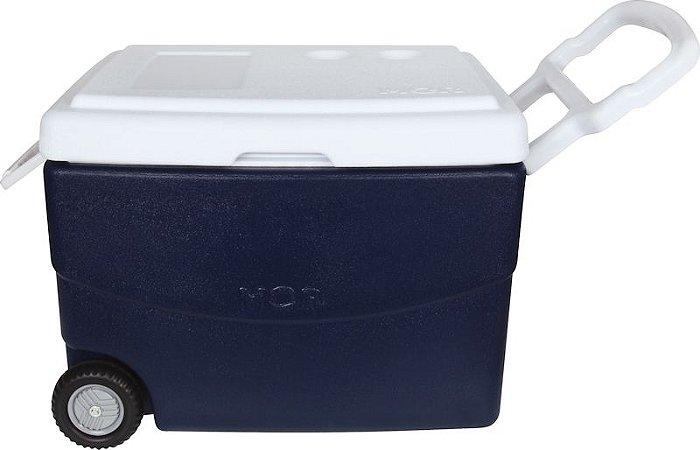 Cooler Caixa Térmica Grande Mor 70 litros com rodas MOR