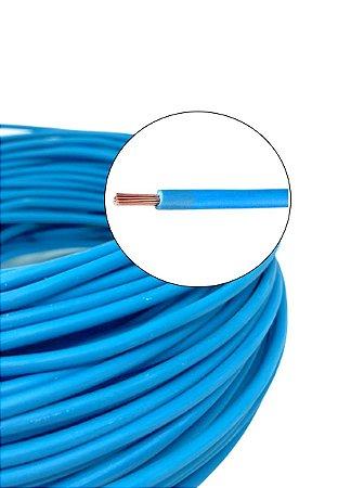 Fio Cabo Elétrico Azul 1,5mm Flexível 100m