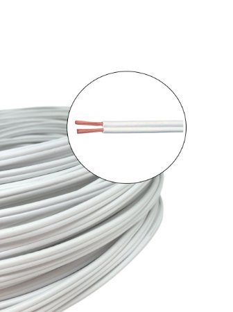 Fio Elétrico Paralelo Branco 2X2,5mm 100m