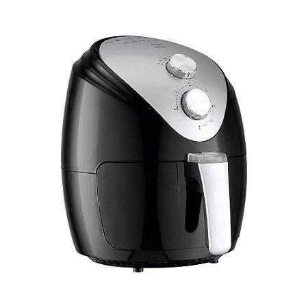 Fritadeira Elétrica Air Fryer Preta 2,5 Litros Silver 220v