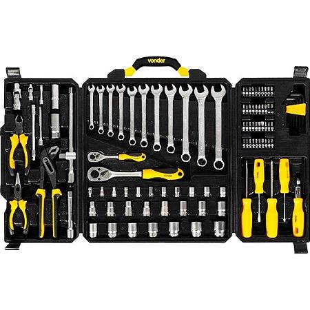 Kit ferramentas 110 Peças + Maleta de Ferramentas Completa - VONDER
