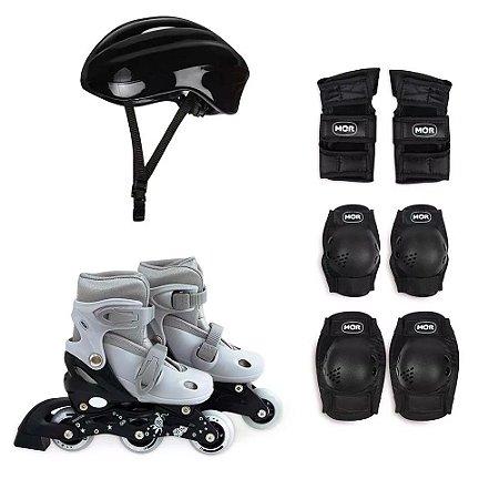 Kit Roller Infantil Cinza Tamanho P Numeração 31-34 MOR
