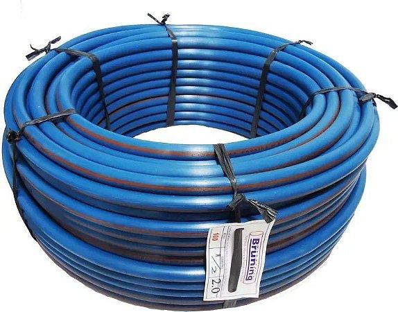 Mangueira De Água 1/2X2,0mm - 100m Plástica Azul com marcação laranja