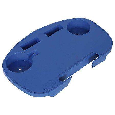 Mesa Portátil Para Cadeira De Praia Mor Azul Plástica