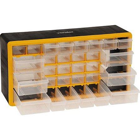 Caixa Organizadora Grande Plastico Com 30 Gavetas