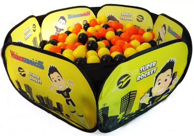 Piscina com 100 Bolinhas Heroizinhos Amarelo