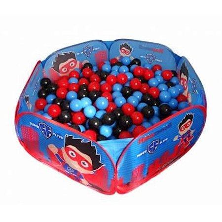 Piscina com 100 Bolinhas Heroizinhos Azul