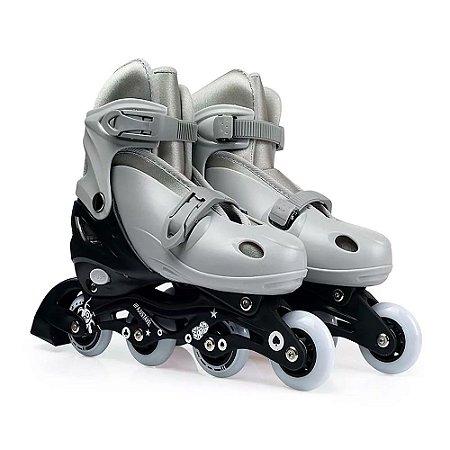 Roller Infantil Cinza Tamanho-M Numeração 34-37