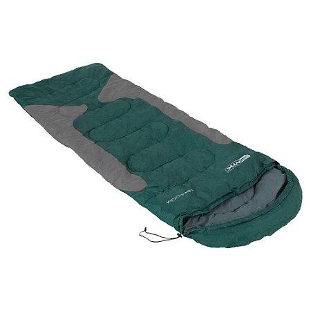 Saco de Dormir Térmico Grande Nautika Freedom -1,5 C Cinza/Verde Misto