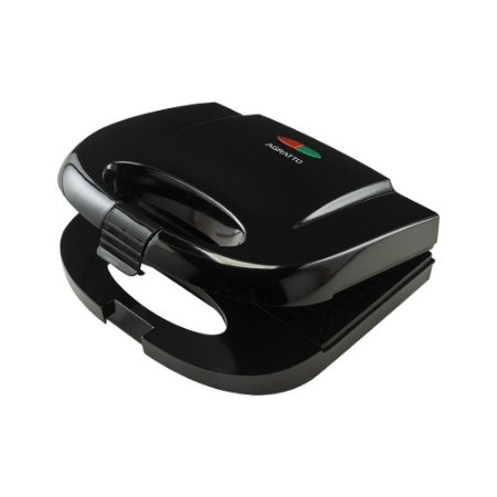 Sanduicheira Grill Antiaderente Preta Black 220V 750W