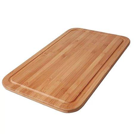 Tabua para Corte Bamboo 50X30cm Mor