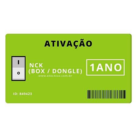 Ativação NCK BOX Dongle 1 Ano