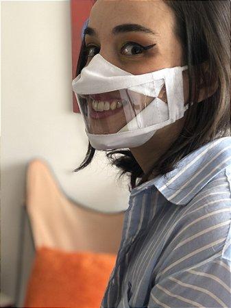 Mascara para Leitura Labial Branca
