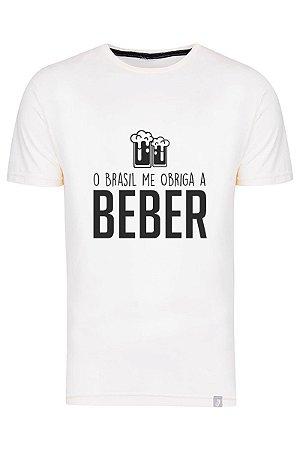 Camiseta O Brasil Me Obriga A Beber