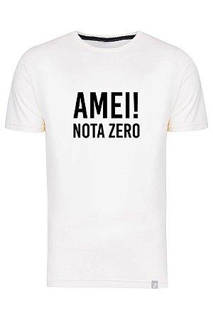 Camiseta Amei Nota Zero