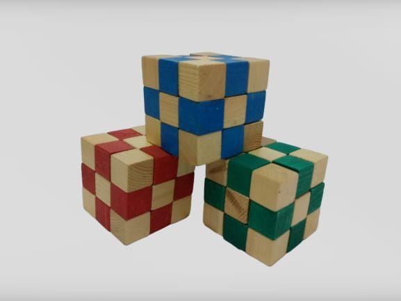 KIT Cubo Elástico 3 Modelos. - JAC Oficina de Madeiras.
