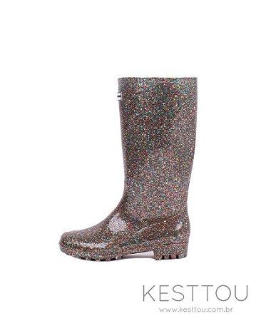 Galocha Feminina Kesttou KT036 Glitter - Grade C/9 Pares