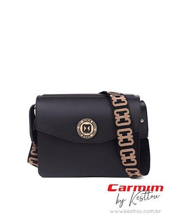 Bolsa Tiracolo Carmim by Kesttou BK041 Preto - Unidade
