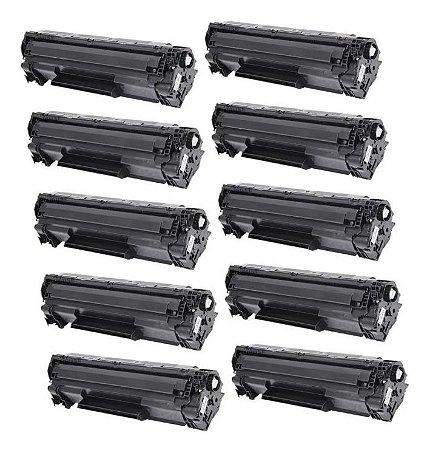 Kit 10 Toner Compatível Com Hp Ce285a 285a Ce285ab, P1102 P1102w M1132 M1210 M1212 M1130