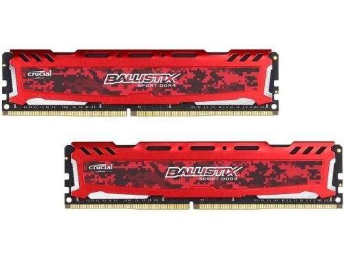 Memória Crucial Ballistix Sport LT 4GB 2400Mhz DDR4 CL16 Red BLS4G4D240FSE