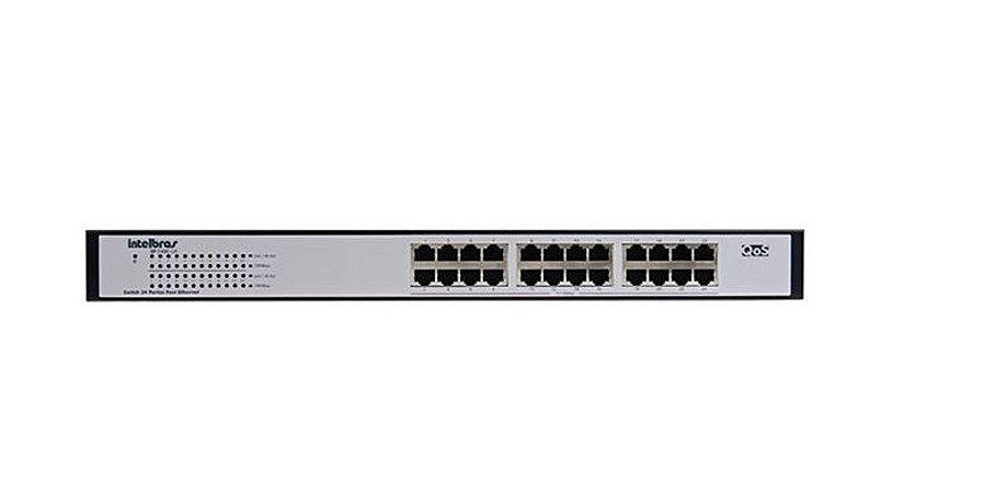 Switch 24 Portas Fast Ethernet SF 2400 QR+ Intelbras