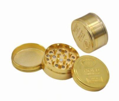 Dichavador Metal Pequeno Gold 3 Partes - Unidade