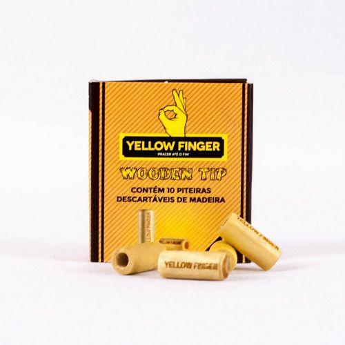 Piteira de Madeira Yellow Finger Wooden Tip Small 1 1/4 - Unidade