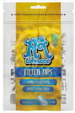 Filtro Hi Tobacco Slim Long 6mm  - Unidade