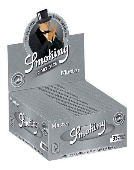 Seda Smoking Prata Master King Size - Display