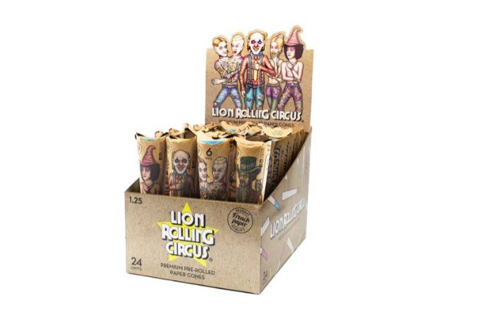 Seda Lion Rolling Circus Unbleached Cone - Display