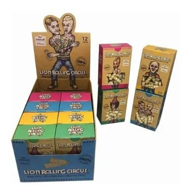 Piteira Lion Rolling Circus Unbleached Premium Pre-Rolled - Display