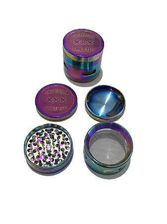 Dichavador Metal Multicolor Amsterdam 4 Partes - Unidade