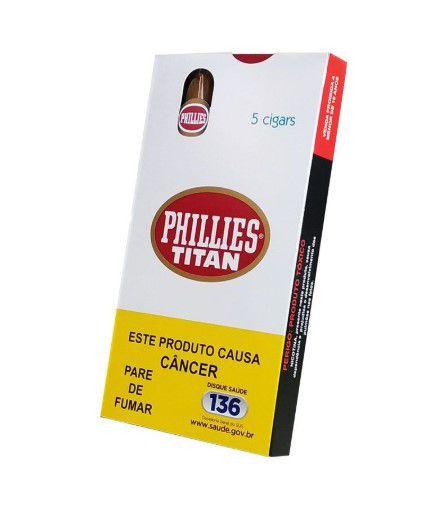 Charuto Phillies Titan Tradicional - Peteca c/ 5 un
