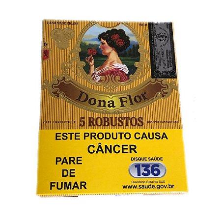 Charuto Dona Flor Robusto - Peteca c/ 5 un