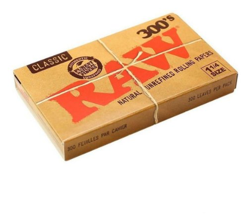 Seda Raw Box 300 Folhas Mini Size - Unidade