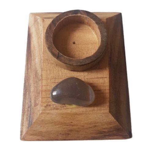 Incensário Quadrado com Pedra - Unidade