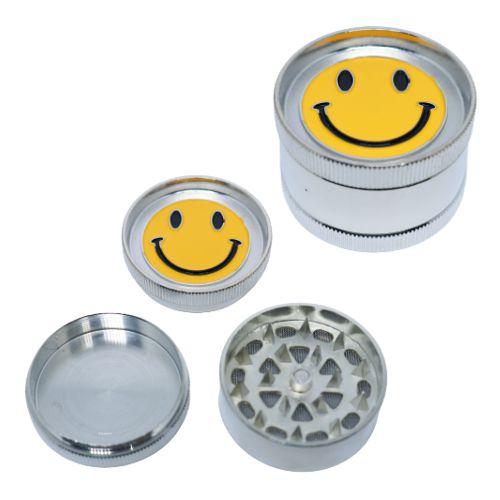 Dichavador Metal Médio Smile Central 3 Partes - Unidade