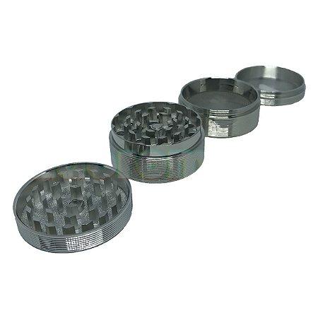 Dichavador Metal Médio Liso 4 partes - Unidade