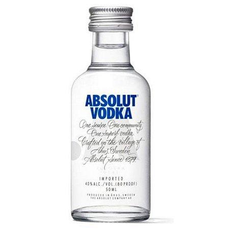 Vodka Absolute Natural Miniatura 50ml - Unidade