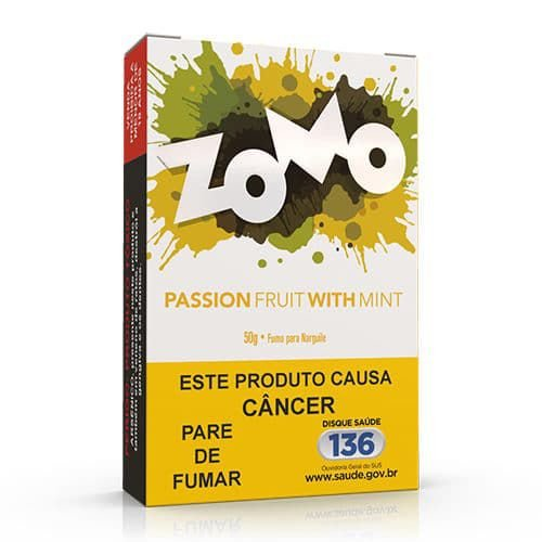 Essencia Narguile Zomo Passion Fruit With Mint 50g - Unidade