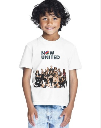 Camiseta Now United Integrantes Camisa Infantil Grupo Pop Music Tshirt Moda Geek Nerd Personalizada Menino Menina Unissex